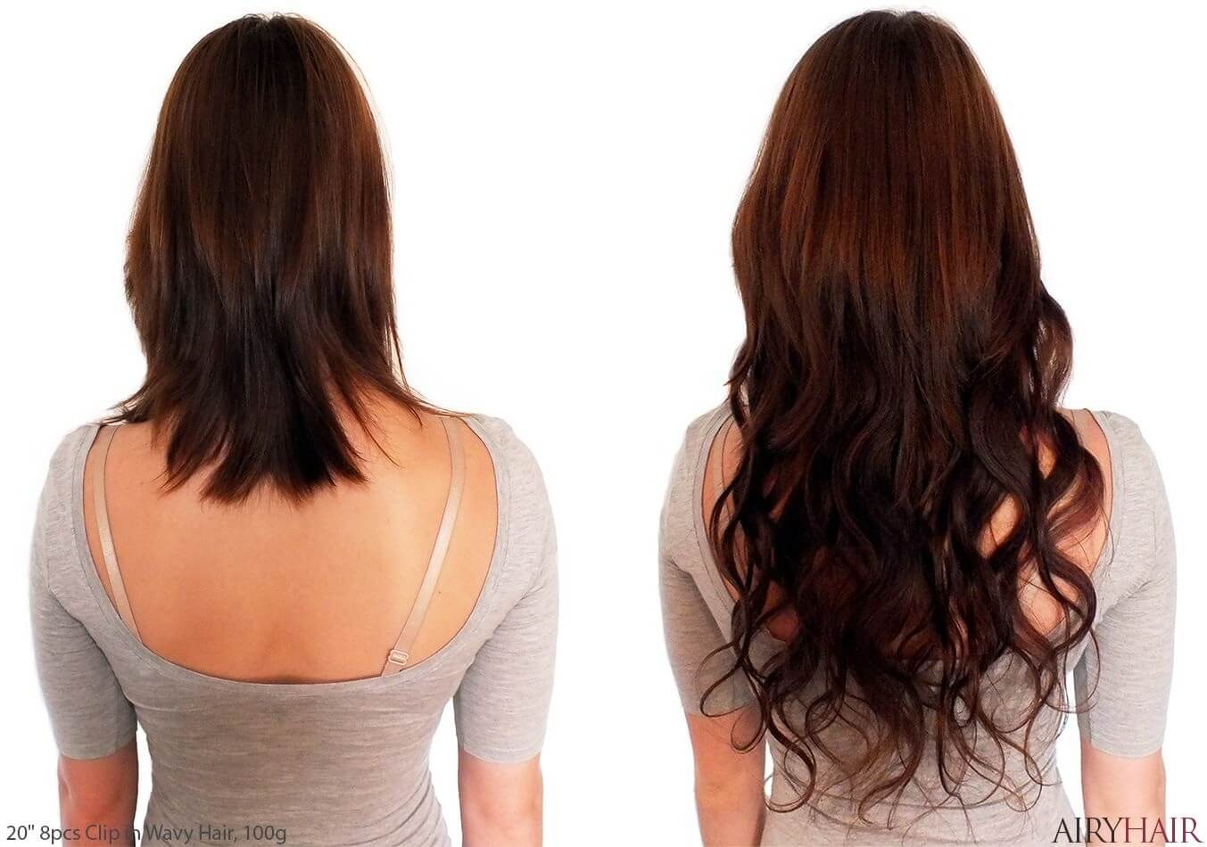 Clip In Hair Extension Before And After Anka Hair