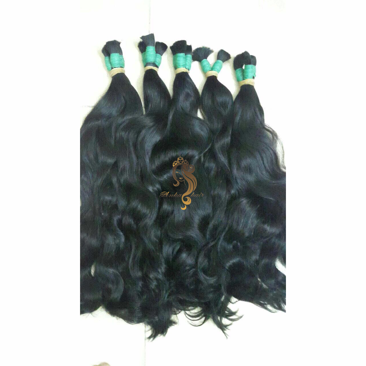 Double Drawn Bulk Hair Wavy Anka Hair